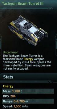 Tachyon Beam Turret III