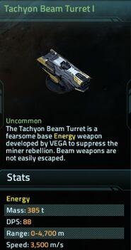 Tachyon Beam Turret I