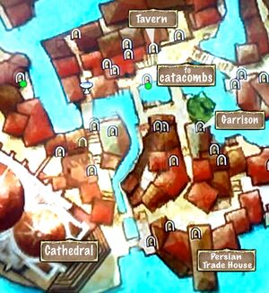 Map of Inner City Catacombs Entrances
