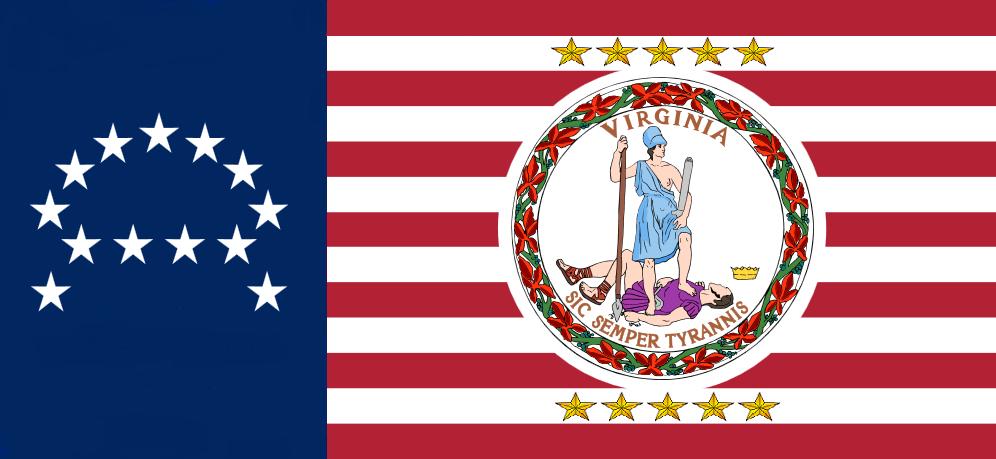 Image - Virginia State Flag Proposal No 19 Designed By Stephen Richard ...