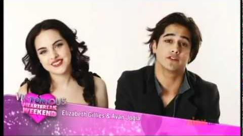 Liz Gillies and Avan Jogia introducing Victorious heartbreak weekend