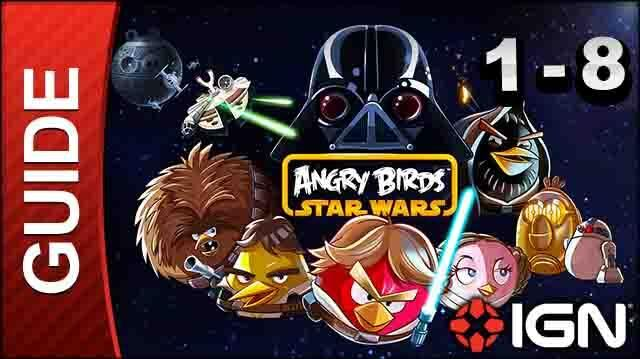 Angry Birds Star Wars Tatooine Level 8 3-Star Walkthrough