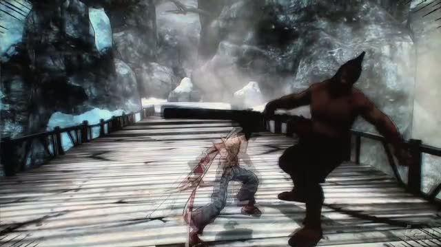 Afro Samurai PlayStation 3 Gameplay - TGS 2008 Demo Clip 1 (Off-Screen)