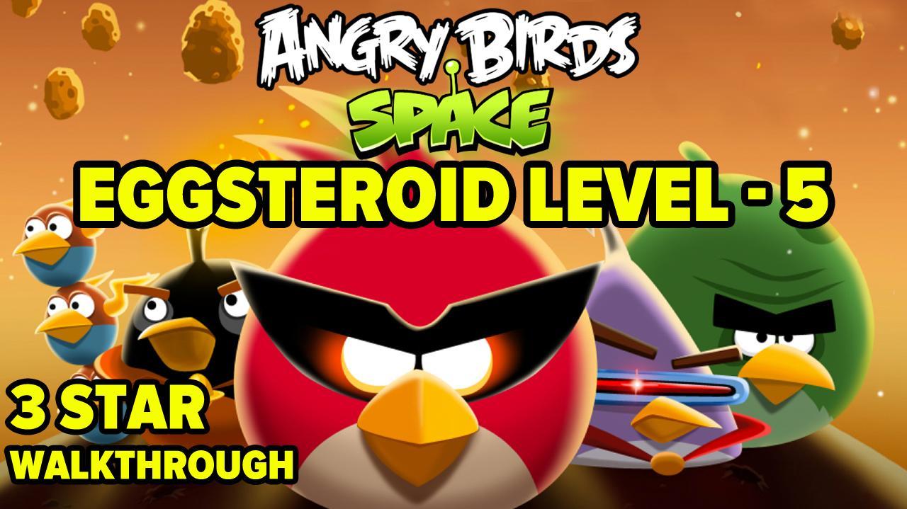Angrybirds Francescanatale 05: Angry Birds Space Eggsteroid Level 5 E-5 3-Star