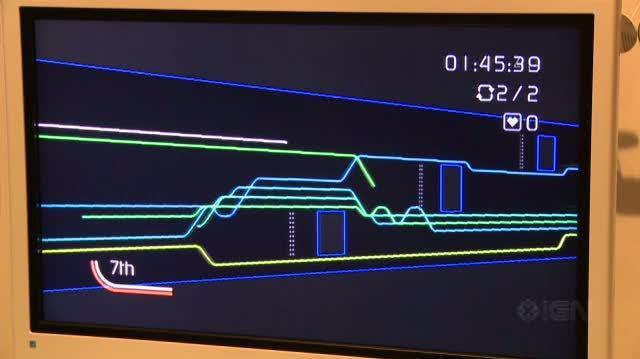 Art Style Light Trax Nintendo Wii Gameplay - Nintendo Summit Spectra (Off Screen)
