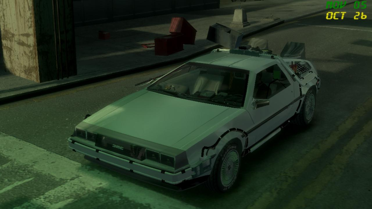 Delorian Back to the Future Mod for Grand Theft Auto IV - GTA IV Mods