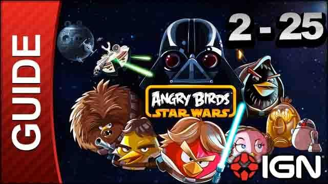 Angry Birds Star Wars Death Star Level 2-25 3 Star Walkthrough