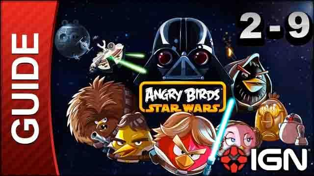 Angry Birds Star Wars Death Star Level 2-9 3 Star Walkthrough