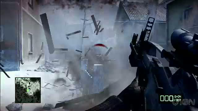 Battlefield Bad Company 2 Xbox 360 Gameplay - Snowball Fight