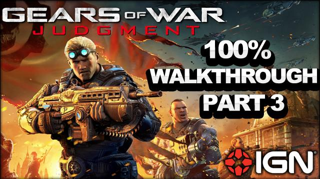 Gears of War Judgment Walkthrough - Museum Gardens - Declassified Mission and Cog Tag (Part 3)