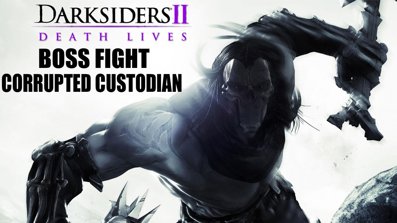 Darksiders II Mini Boss Fight Corrupted Custodian - Gameplay