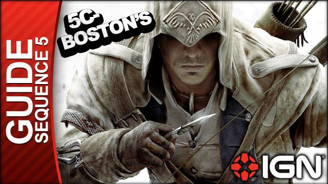 Assassin's Creed 3 - Sequence 5 Boston's Most Wanted - Walkthrough (Part 18)