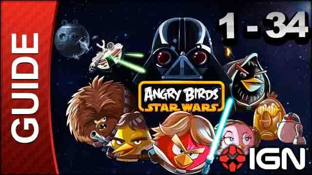 Angry Birds Star Wars Tatooine Level 1-34 3 Star Walkthrough