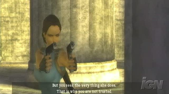 Tomb Raider Anniversary PlayStation 2 Gameplay - Talk and Guns