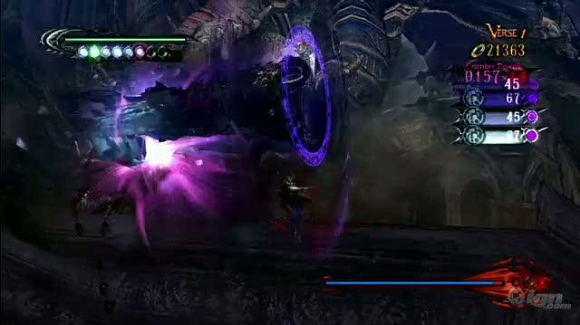 Bayonetta Xbox 360 Gameplay - Battling Fort