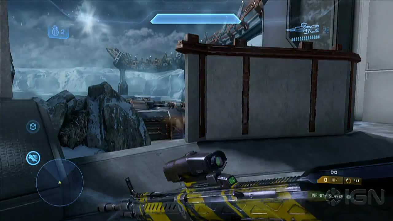 "Halo 4 ""Longbow"" Multiplayer Map Walkthrough With 343i"