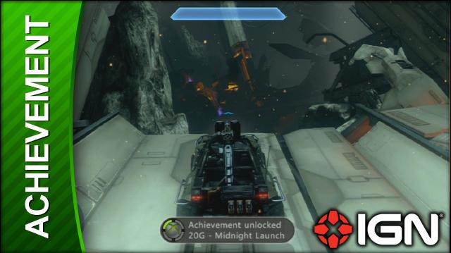Halo 4 Achievement Midnight Launch (Get Air in a Warthog at Midnight)
