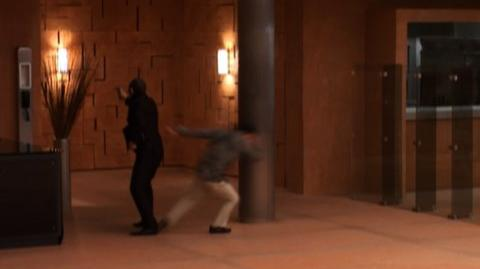 Quantum of Solace (2008) - Behind The Scenes Exploding Room
