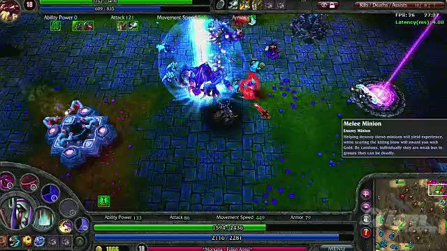 League of Legends PC Games Gameplay - Killing Minions