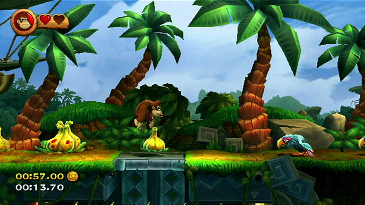 Donkey Kong Country Returns - Time Trial Jungle Hyjinx