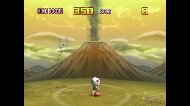 Bomberman Land Nintendo Wii Gameplay - Volcano Blast
