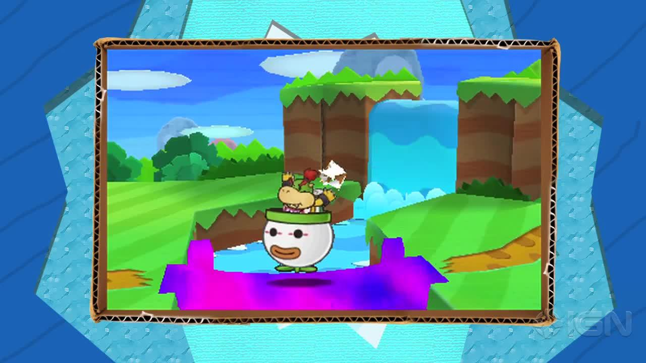 Paper Mario Sticker Star Paperize Trailer