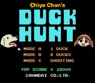 Chiyo Chan's Duck Hunt Title Screen