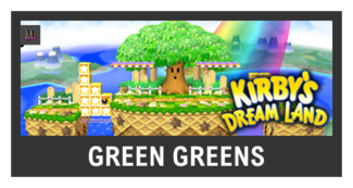 Super Smash Bros. Strife stage box - Green Greens