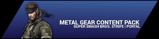 Super Smash Bros. Strife portal image - Metal Gear DLC