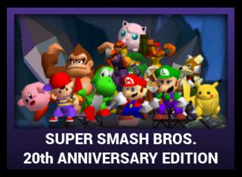 J-Games game box - Super Smash Bros 20 Anniversary