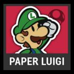 Super Smash Bros. Strife character box - Paper Luigi