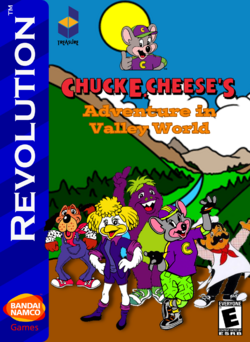 Chuck E Cheese's Adventure in Valley World Box Art 1