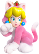 Cat Peach Artwork - Super Mario 3D World