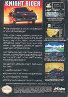 Knight Rider NES reverso USA
