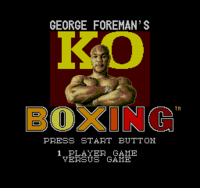 George Foreman's KO Boxing SMS - título