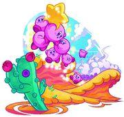 Kirby Mass Attack - Cañon arenoso