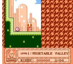 Kirby dentro del mapa principal