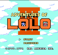 Adventures of Lolo 3 TITULO