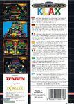 Klax Mega Drive reverso EUR