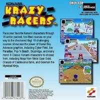 Konami Krazy Racers reverso