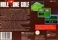 HAL's Hole in One Golf - Portada EUR BACK