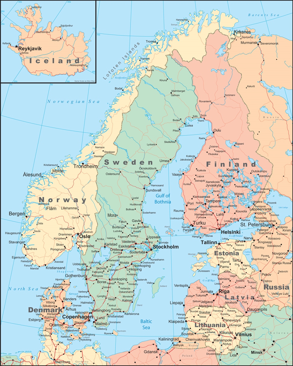 Map Of Norway And Denmark My Blog - Norway map detailed