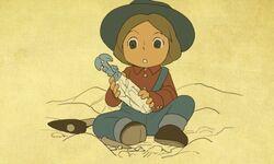 Leon as a boy