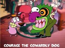 Eustace bagge scaring courage