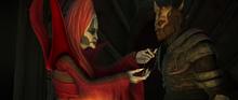 Mother-Talzin-giving-Savage-Oppress-a-talisman