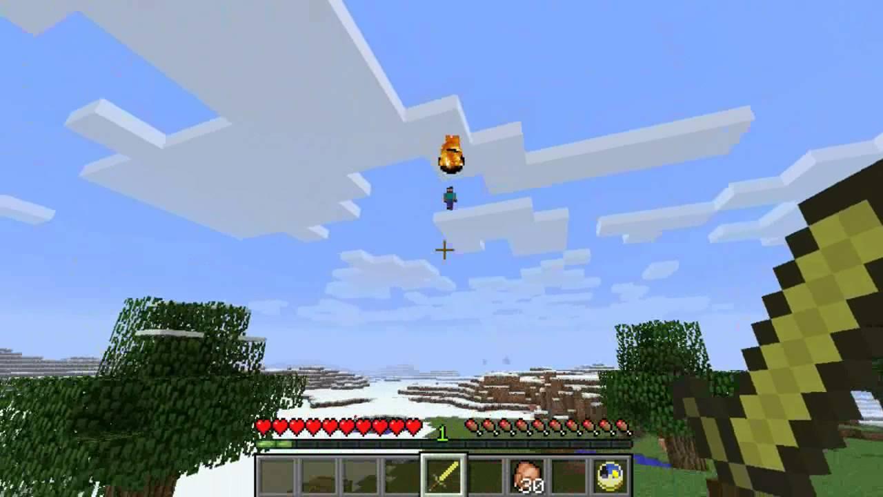 Herobrine flying