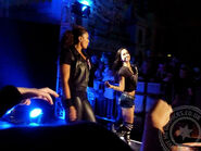 WWE Minehead - The Bella Twins vs AJ Lee and Tamina - 16 Nov 13 - 003