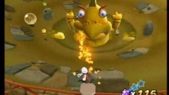 Super Mario Galaxy 2 - Squizzard's Sandy Sinkhole Boss (Squizzard)