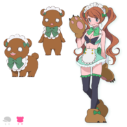 Lulu Yurigasaki Bear Form
