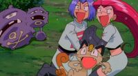 Jessie, James, Meowth and Weezing (Movie 4)